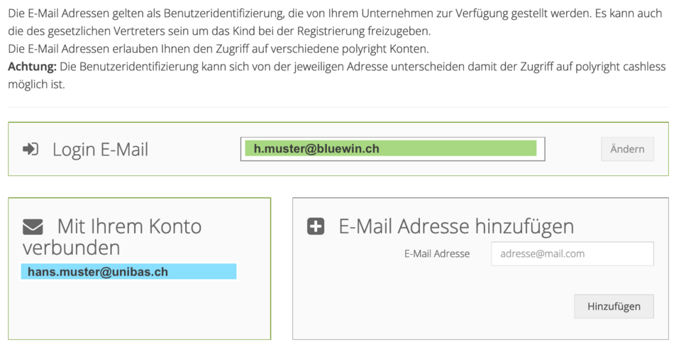 [Translate to English:] Unibas Email Adresse hinzufügen